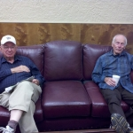 Emil Beck and Dick Cassin taking a break at the show